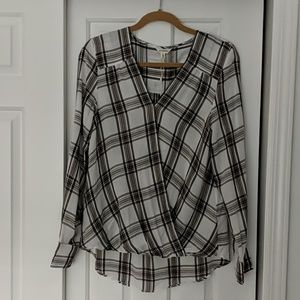 NWT Max Studio plaid blouse